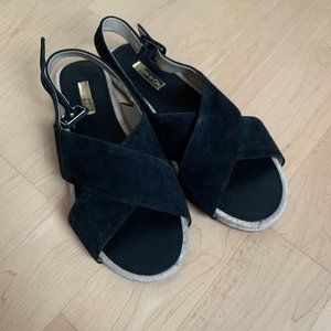 Louise et Cie NEW black slingback sandals sz 8